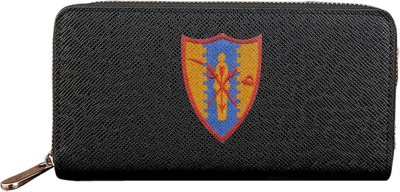 4º Regimiento de caballería para mujer larga cartera de gran capacidad señoras monedero cremallera titular de la tarjeta