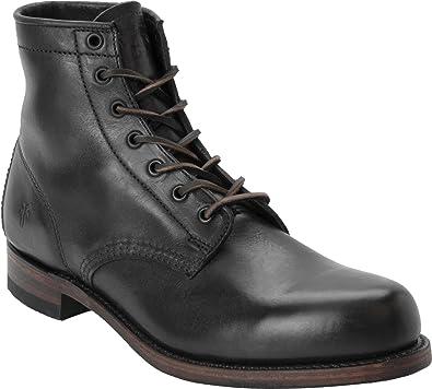 Frye Men's Black Arkansas Mid Leather