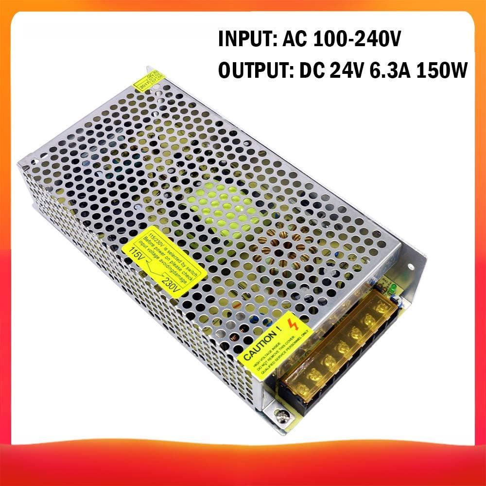 Lepeuxi AC 100-240V /à DC 24V 4.2A 100W Transformateur de Tension Alimentation de Commutation r/égul/ée Adaptateur Convertisseur pour Bandes Lumi/ère Cam/éra Ordinateur Projet Radio