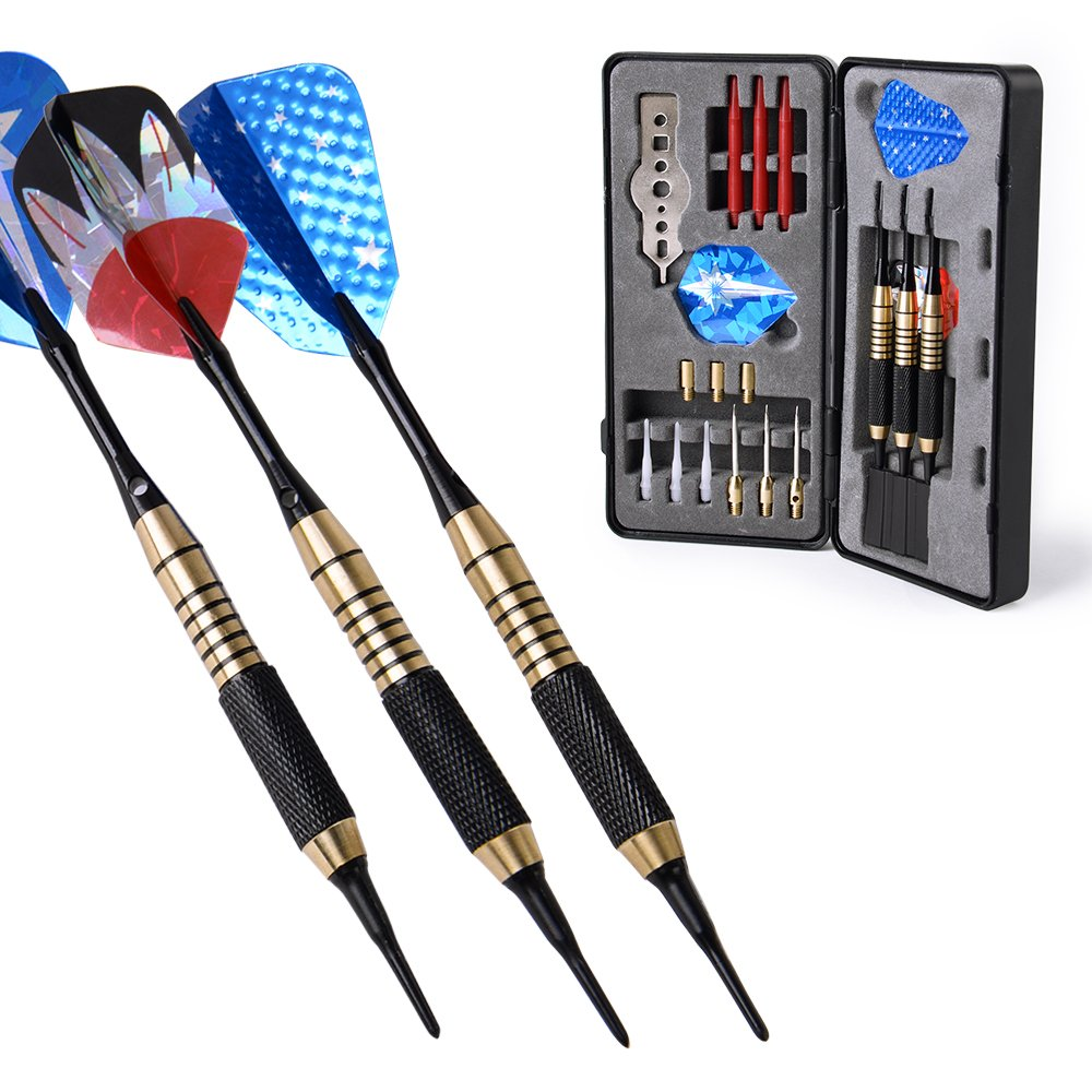 W.M Darts Nice Packing Gift Box 18 / 20 Grams Darts Set (Soft Tip & Steel Tip)