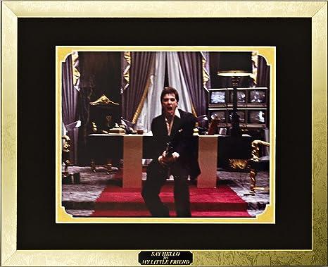 Amazoncom Scarface Al Pacino As Tony Montana Framed Photo In