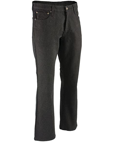 Milwaukee Leather Mens Straight Cut Denim Jeans Reinforced With Aramid Black, 38