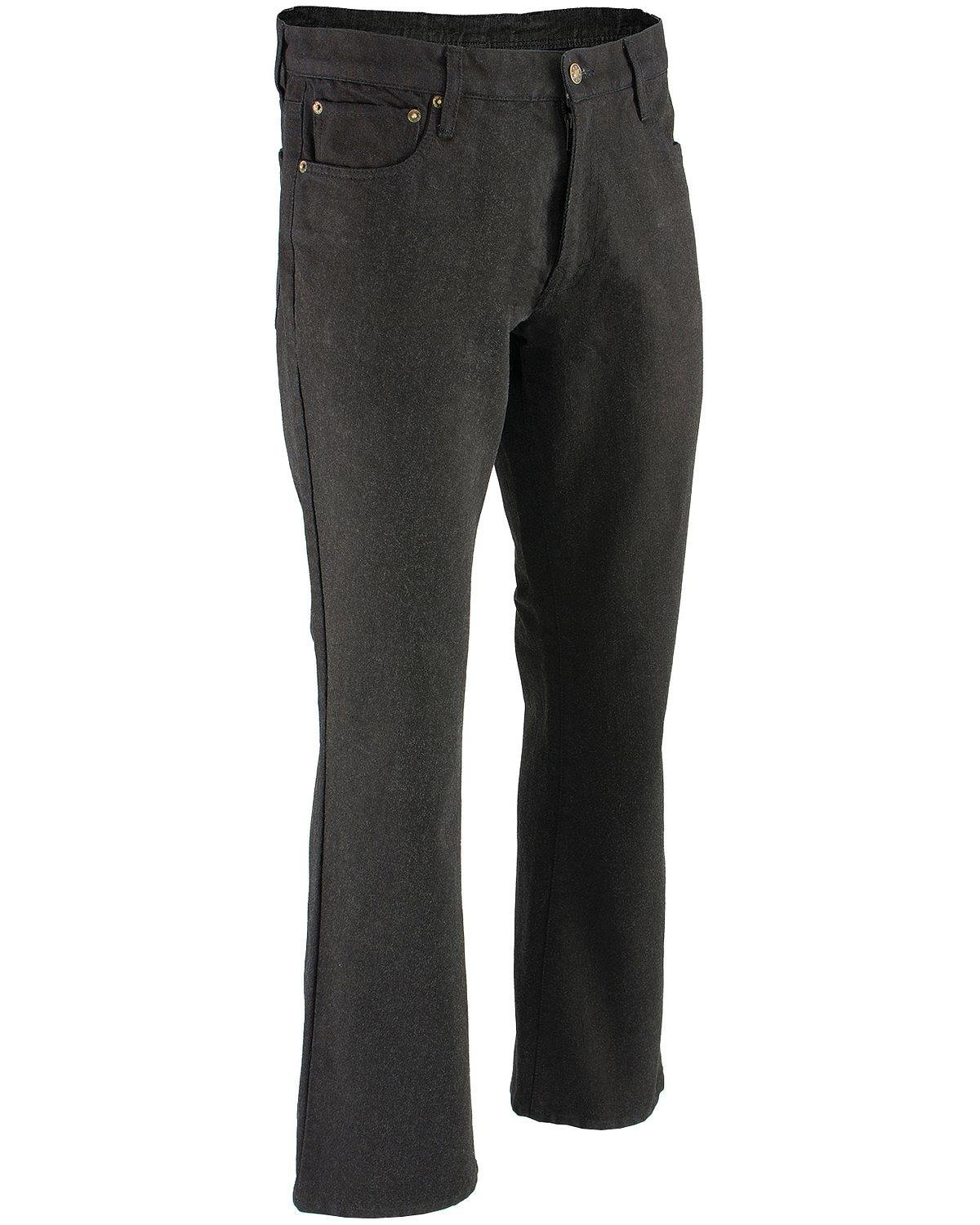 Milwaukee Leather Men's Denim Jeans Infused with Aramid (Black, 40)
