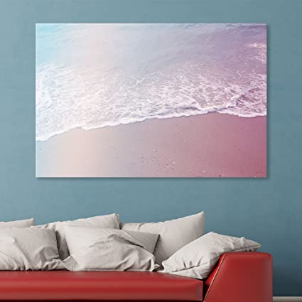 wall26 canvas wall art waves with bubbles on the tropical beach giclee print gallery
