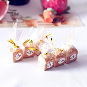 helegeSONG 1:12 Scale Miniature Dollhouse Wrapped Toast Bread Miniature Food Dollhouse Breakfast Dollhouse Kitchen Accessory A