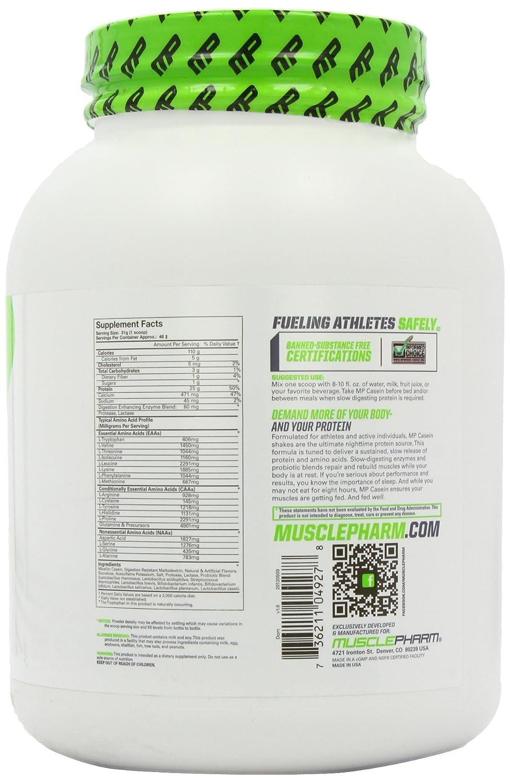 MusclePharm - Proteína Caseína de Vainilla Serie Core 1426 g: Amazon.es: Hogar