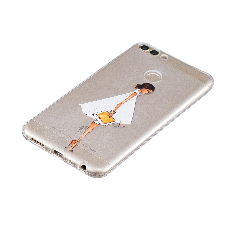 Feuilles Verte Ultra Mince Souple L/éger Silicone Antichoc /Étui Clair Couverture Arri/ère pour Huawei Honor 9 Lite Misteem Coque pour Huawei Honor 9 Lite Cristal Transparent