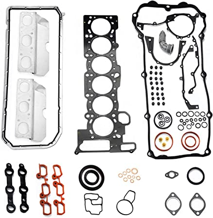 SCITOO Compatible with Head Gasket Bolts Kits fit BMW 325i 325xi 330Ci 330i 330xi 525i 530i X3 X5 Z3 Z4 2.5L 3.0L L6 DOHC 24V 01-06 Engine Head Gaskets Set Kit