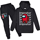 Among Us Merch Hoodies and Sweatpants Causal 2 Piece Set Sport Suit Tracksuit for Boys and Girls