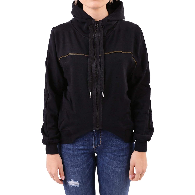 Numero00 Women's 2212BL Black Viscose Outerwear Jacket