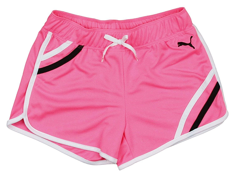 Puma Little Girls Mesh Gym Shorts