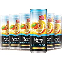 Minute Maid Refresh Orange Cans, 300ml (Pack of 12)