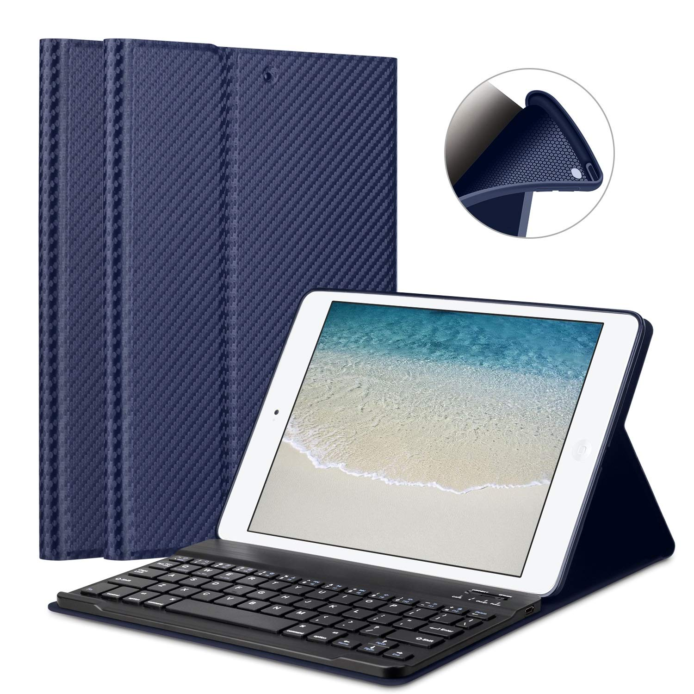 iPad Mini 1/2/3 Keyboard Case - GOOJODOQ 7.9' [Upgrade] Soft TPU Back Stand Cover with Magnetically Detachable Wireless Bluetooth Keyboard for Apple iPad Mini 1 / Mini 2 / Mini 3
