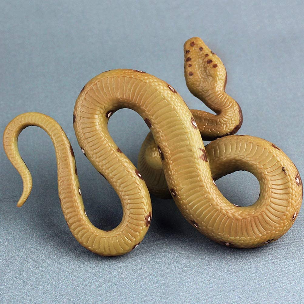 Realistic Snake Toy Rubber Snake Figure for Halloween Prank Props