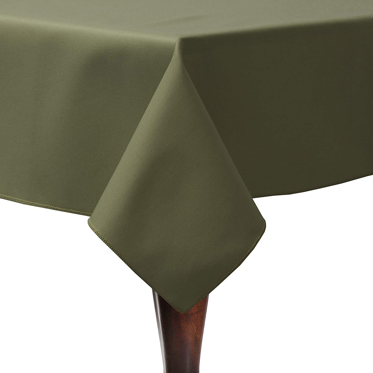 Ultimate Textile Poly-Cotton Twill 45 x 45-Inch Square Tablecloth Olive Green
