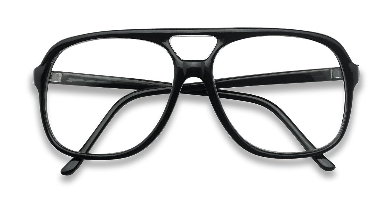 75c3c3378f Amazon.com  SunglassUP - XL Oversized Horn Frame Optical Rx +1.00 thru  +3.50 Reading Glasses (Black (58mm)