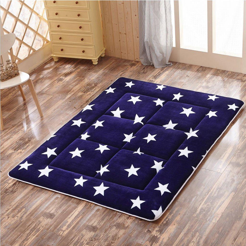Fenfen Colchonetas de piso para niños [dormitorio de estudiante] alfombra de tatami plegable-Falai terciopelo 120 * 200 * 4cm (Size : 120*200cm)