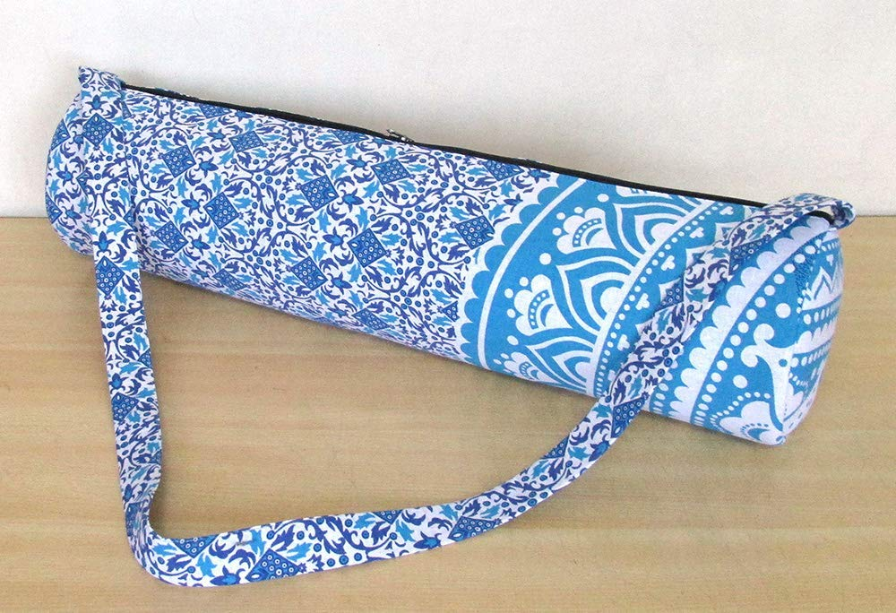 Details about  /Indian Mandala Hippie Yoga Mat Carrier Bag With Shoulder Strap 100/% Cotton Bag