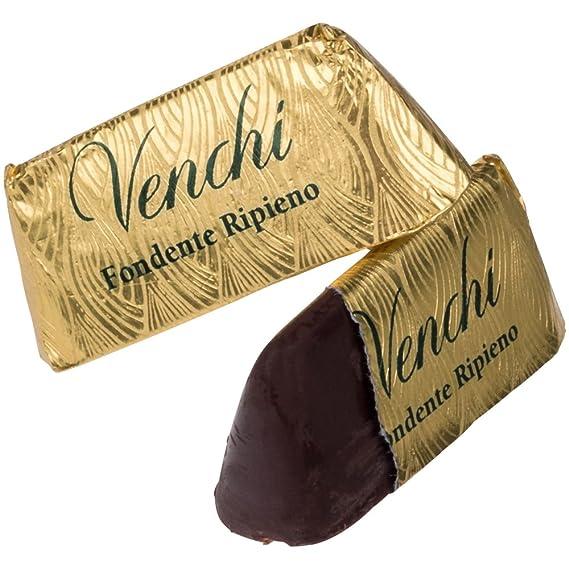 Venchi Giandujotto Fondente Ripieno Gianduja Pirámide con Piedmont Hazelnuts, Cubierto en 56% de chocolate