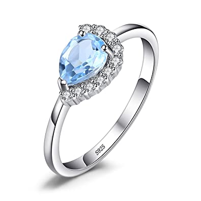 jewelry gold ring ct white in natural topaz rings sky blue and diamond