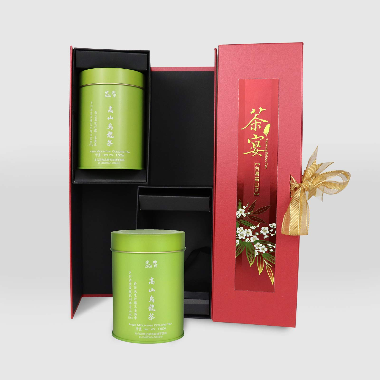 DING IN High-mountain Oolong Tea Feast Straight Gift Box 150g/2cans by Ding In ltd. (Image #1)