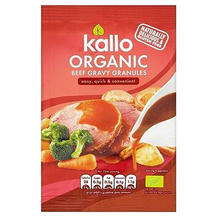 Kallo Gránulos De Salsa De Carne Orgánicos (35g) (Paquete de 2)