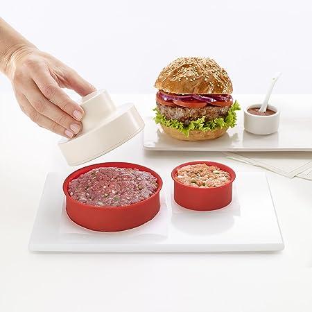 My Burger Presse Hamburger Manuel 3 Accessoires Rouge Alinea
