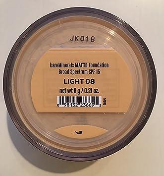 bareMinerals Escentuals Matte SPF 15 Foundation Light 0.21 oz