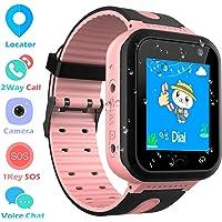 Impermeable Smartwatch para Niños, Reloj Inteligente Phone con LBS Tracker SOS Chat de Voz Cámara Despertador Podómetro…