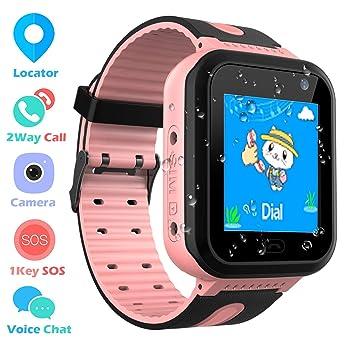 Impermeable GPS Smartwatch para Niños, Reloj inteligente Phone con ...
