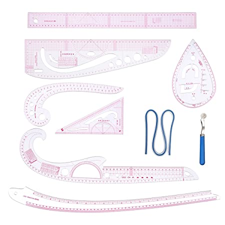 KINGSO Sewing Ruler Tailor Set French Curve Accessories Template ...