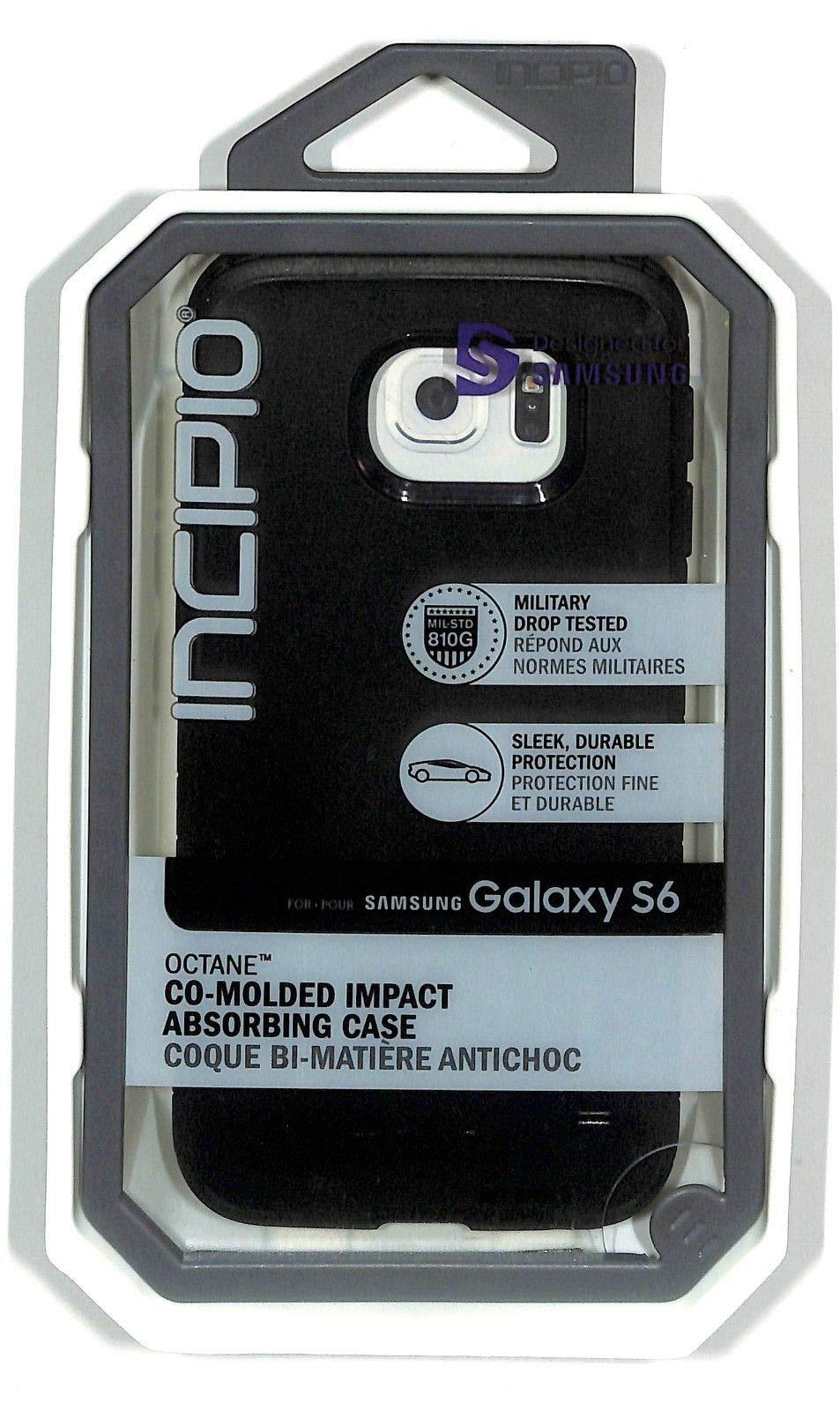 Incipio Octane Case for Samsung Galaxy S6 - Retail Packaging - Black/Black