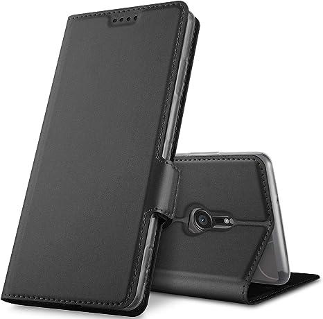 Geemai para Sony Xperia XZ3 Funda, Multi-ángulo Protectora PU ...
