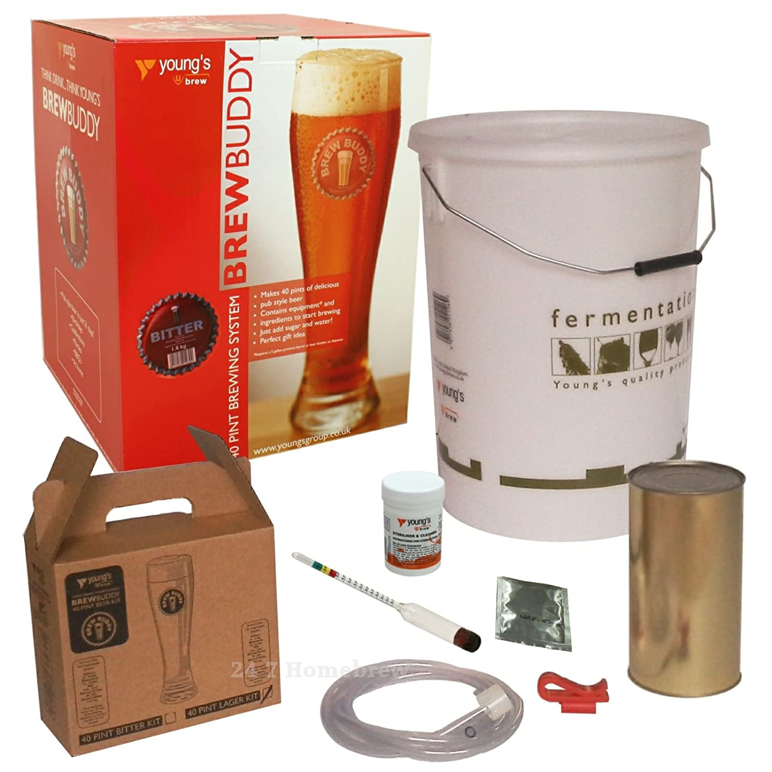 Brew Buddy Beer 40 Pints Home Brew Starter Kit Youngs