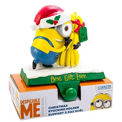 kurt adler despicable me minion stocking hanger - Minion Christmas Stocking