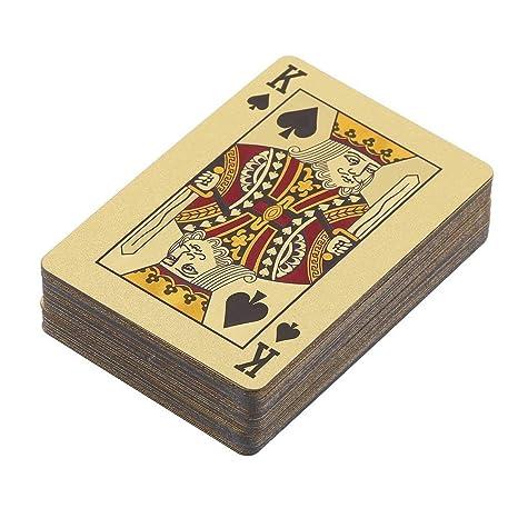 Cartas de Póquer Pet / PVC Plástico Impermeable Chapado en ...