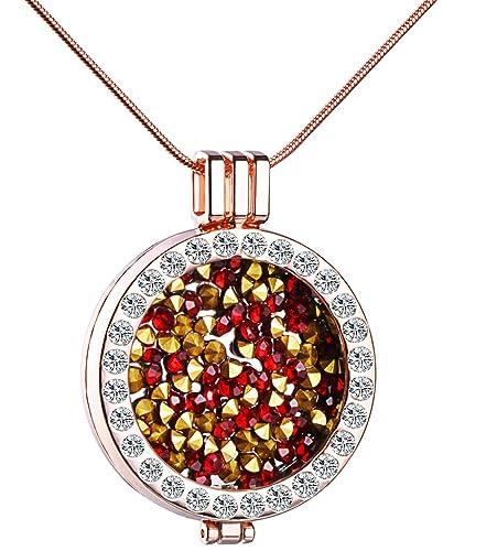 Unendlich U Fashion Damen Halskette Legierung Kristall Austauschbare