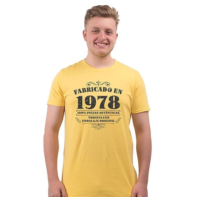 Bang Tidy Clothing Camiseta de Hombre para Regalo de 40 cumpleaños Manufactured 1978: Amazon.es: Ropa y accesorios