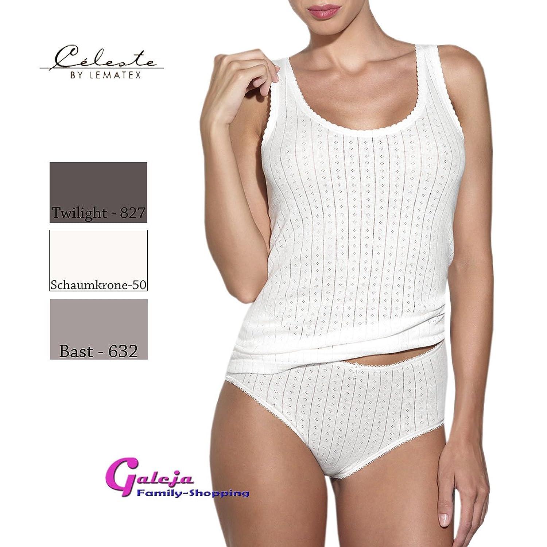 Ott-tricot Damen Set Achselhemd + Taillenslip 100% BW mit Bogenkante 7 Gr. 38-50 Unterwäsche