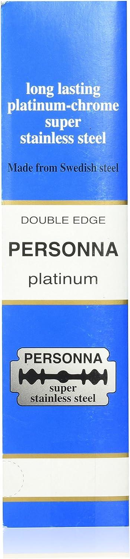 Personna 200 doscientos platino de doble filo hojas de afeitar - hechas de acero sueco