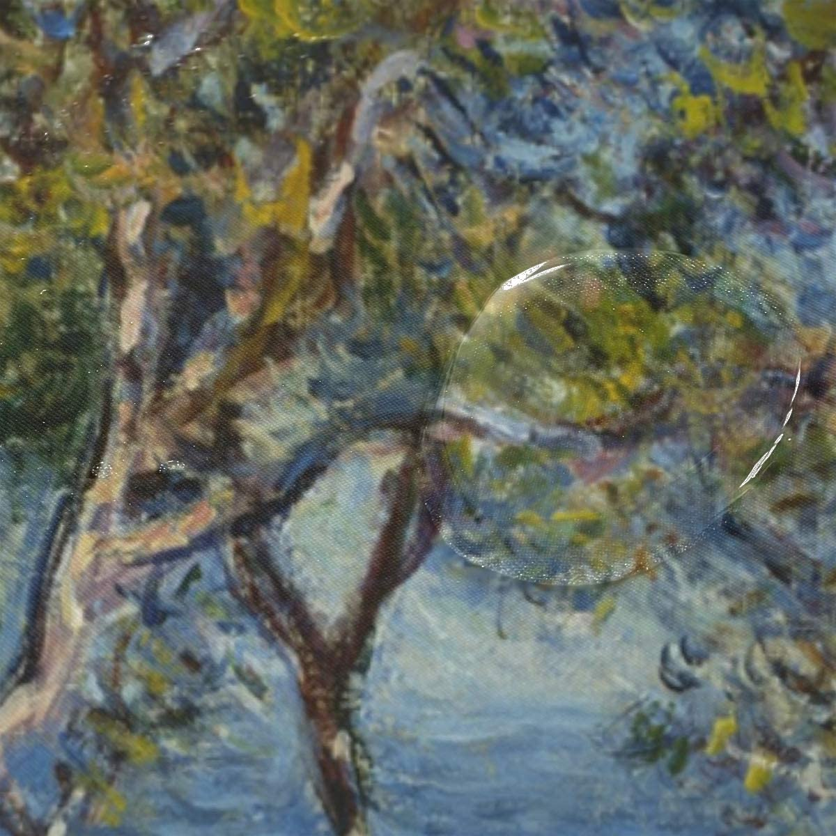 Resistente alla Muffa Ahomy Tenda da Doccia con 12 Ganci 152 x 180 cm Monet Boddingham Art Center Chicago USA Sea Tree Impermeabile