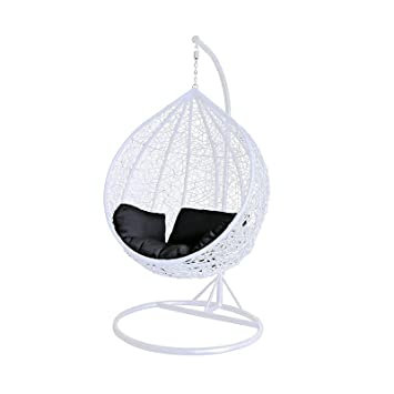 Awesome Dirty Pro Tools White Colour Rattan Swing Chair Outdoor Garden Patio  Hanging Wicker Weave Furniture
