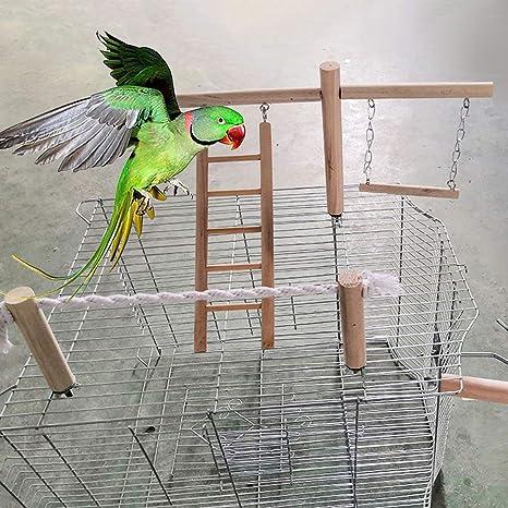 Maxtapos-Pet - Soporte de Cuerda de algodón para pájaros y Loros ...