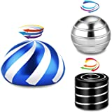 asuku Kinetic Spinning Desk Toys,Fidget Toys for Adults Stress Relief,Full Body Optical Illusion Fidget Spinner Ball Set.