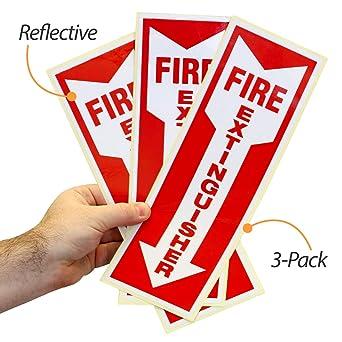 Amazon.com: Paquete de 3 pegatinas reflectantes para ...