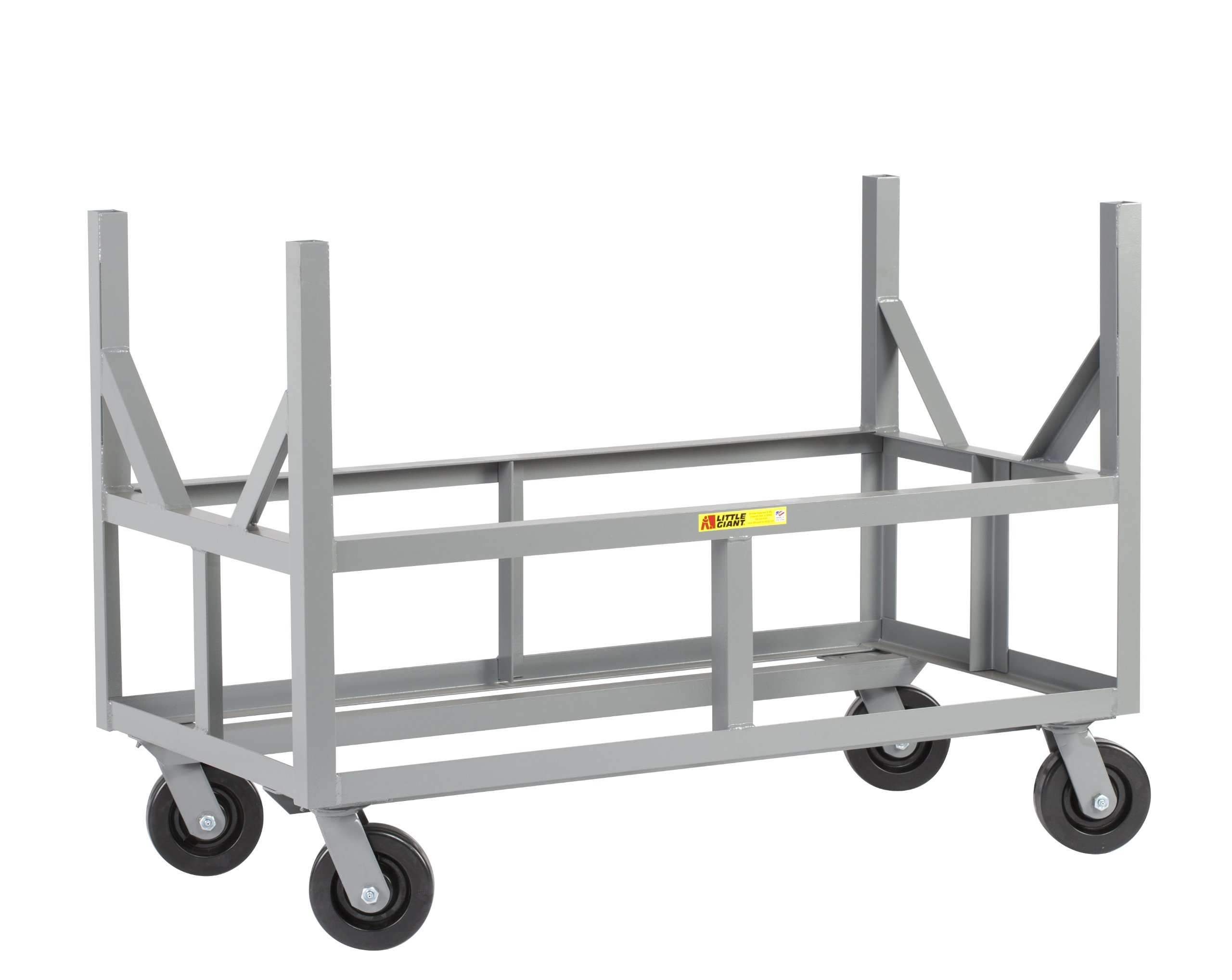 Little Giant ERBST-2448-6PH Ergonomic Bar Cradle Truck, 3000 lbs Capacity, 48'' Length x 24'' Width x 34'' Height