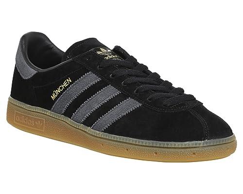 adidas Munchen Trainers Black Dark Grey Gum - 5 UK