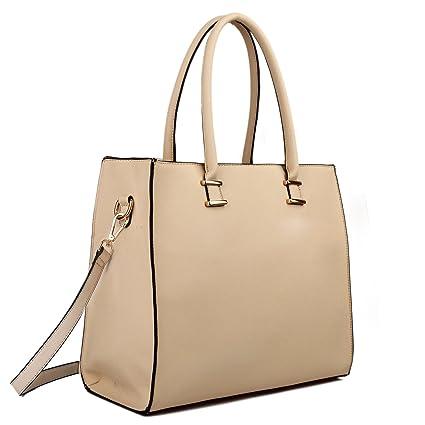 Aktentasche Miss Lulu Shopper Schultertasche Damen Tasche