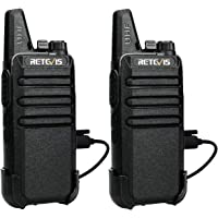 Retevis RT622 Walkie Talkie, Professional, 16 kanalen, Walkie Talkies VOX Scan Monitor met USB-oplaadkabel (zwart, 1…