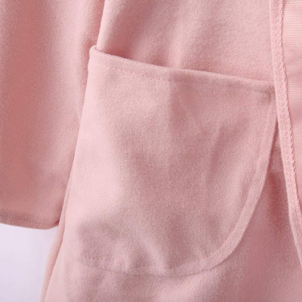 Women Jacket Fashion Clearance Sale Vanvler Ladies Thin Trench Coat Woolen Overcoat Loose Hoodies